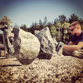 #rockart #balancing #nature #art #maine by Megan Rudman