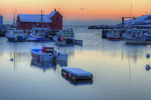 Rockport Dawn in Winter by Donna Doherty