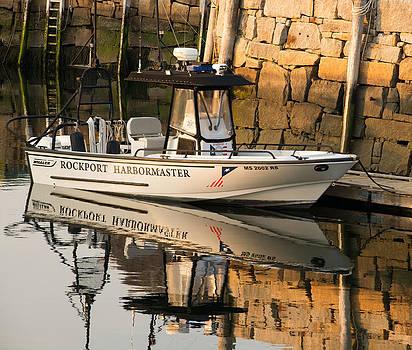 Rockport Harbormaster Boat by Nancy De Flon
