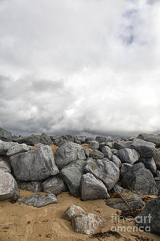 Rocks and Storm Clouds by Susan Gary