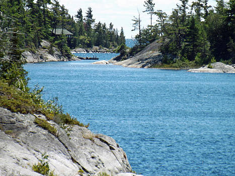 Rocks and Water Paradise by Brenda Brown