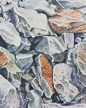 Rocks at Lalaria by Yvonne Ayoub