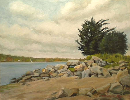 Rocks at North Farm-SOLD by Christopher Roe