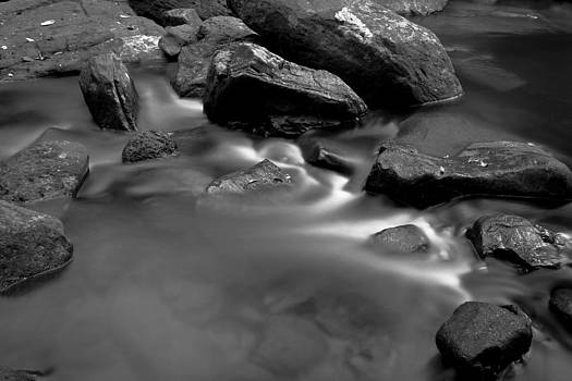 Rocks in river bed by Thomas Pfeller
