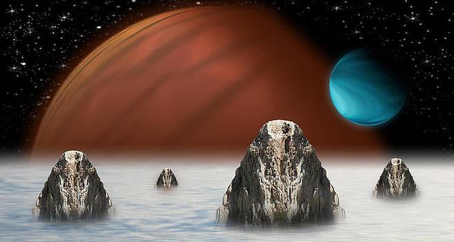 Rocks in the Fog by Piero Lucia