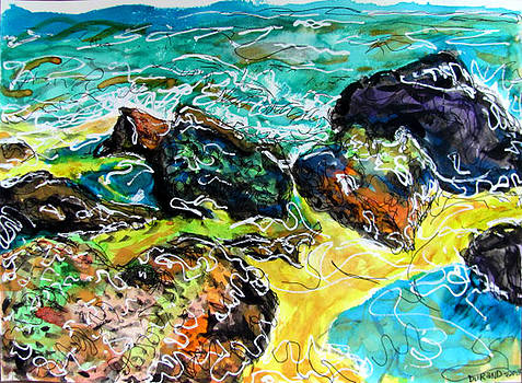Rocks in the surf by Douglas Durand