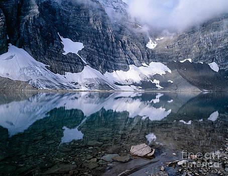 Rockwall Snowfield  in Floe Lake by Tracy Knauer