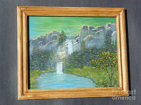 Rocky Falls-Original by Jody Curran