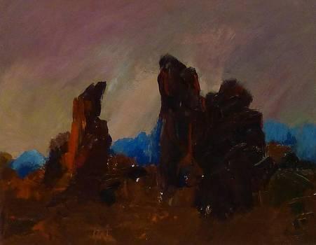 Rocky Landscape I by Irena  Jablonski