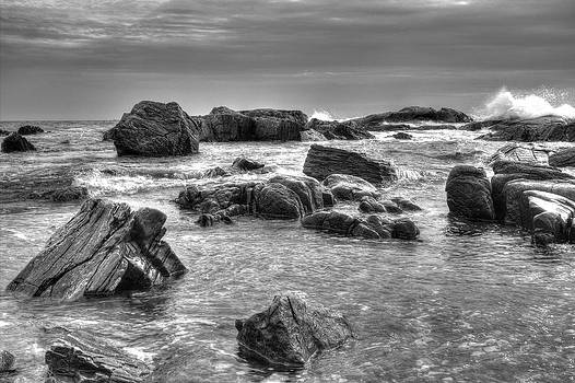Rocky Shoreline with Sky by Derek Latta