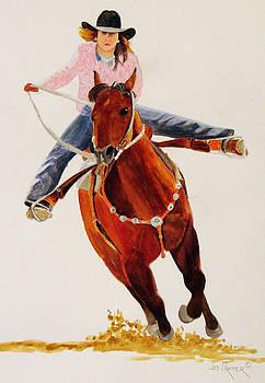 Rodeo Barrel Racer by Joe Prater