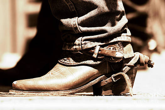 Rodeo Boot and Spur in Copper Tint by Lincoln Rogers