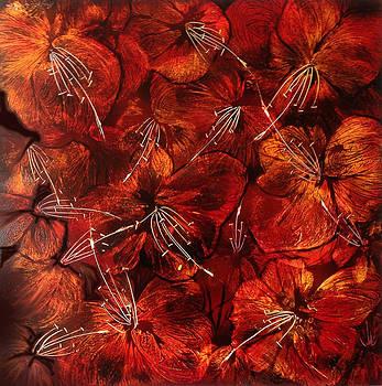 Rojo floral by Angel Ortiz
