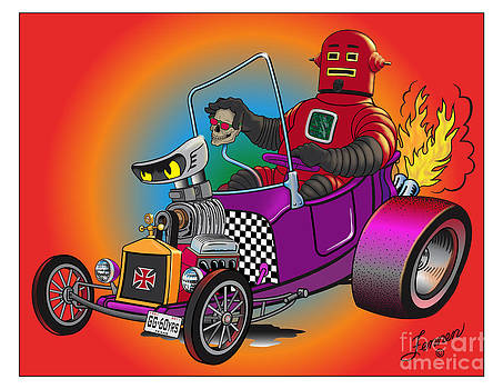 Rojo Robo's new T-bucket Hot Rod by Charles Fennen