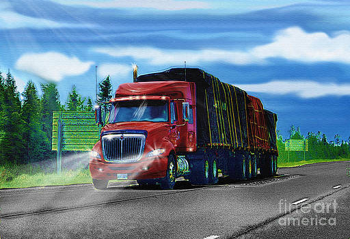 Rollin - Red Truck by Skye Ryan-Evans