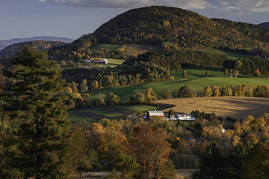 Expressive Landscapes Fine Art Photography by Thom - Rolling Hills of Peacham Vermont - Autumn scenic