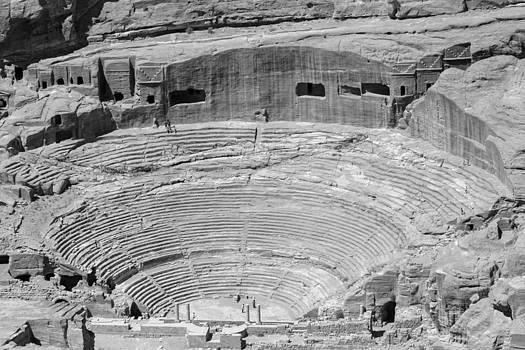 Roman amphitheatre at Petra by Paul Cowan