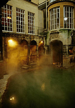 Roman Baths in Bath England by David Davies