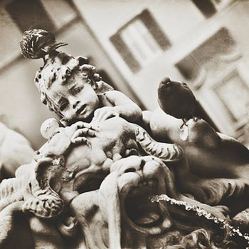 Roman Cherub in Sepia by Angela Bonilla