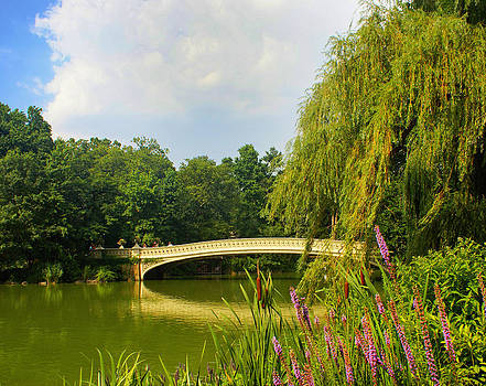 Romance and Splendor of Central Park Bow Bridge by The Art With A Heart By Charlotte Phillips