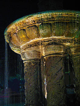 Pamela Smale Williams - Romanesque Night Lighted Fountain