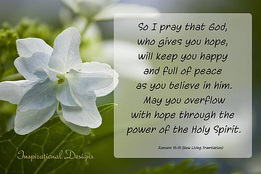 Romans 15 13 by Inspirational  Designs