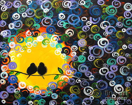 Romantic birds by Mariana Stauffer