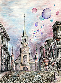 Peter Potter - Romantic Montreal Canada - Watercolor Pencil