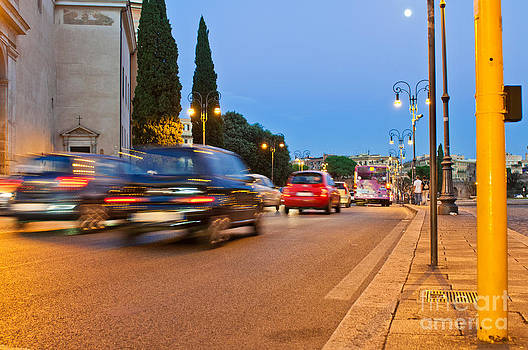 Rome at night by Luis Alvarenga
