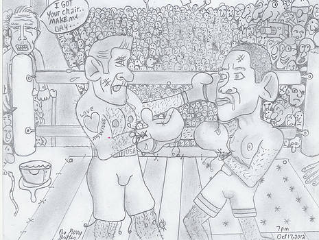 Romnie and Obama Fight To Be Elected by Gerald Griffin