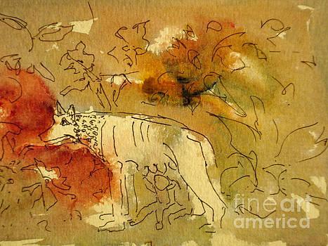 Romulus in Garden by Jessamine Barron