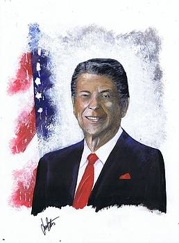 Ronald Reagan by Jerry Bates