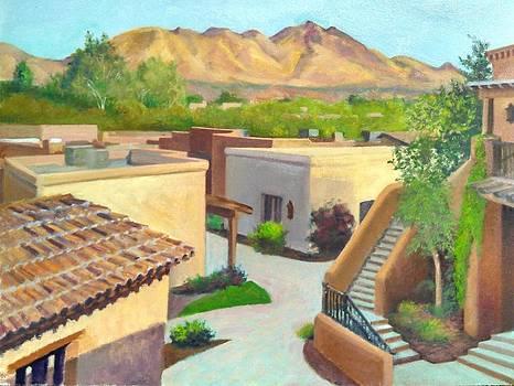 Roof tops of Tubac by John Marbury