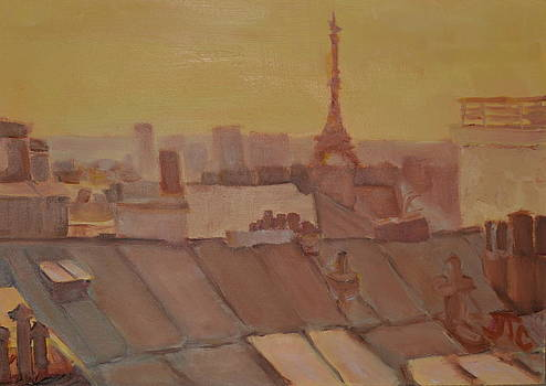 Roofs of Paris by Julie Todd-Cundiff
