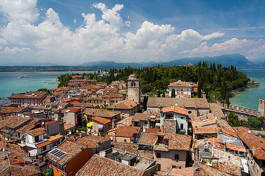 Rooftops at Lago di Garda by Amy Bynum