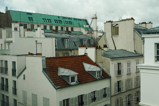 Rooftops in Paris by Dave Leo