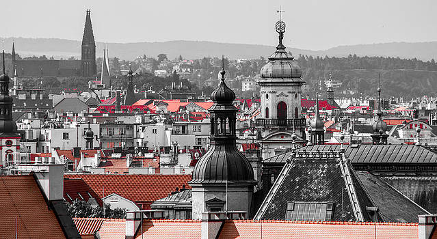 Rooftops in Prague by Georgina Noronha