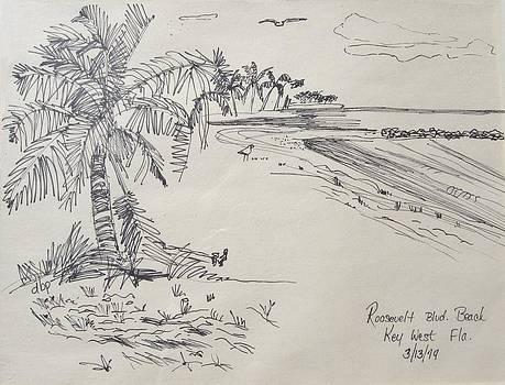 Roosevelt Blvd Beach  Key West Fla by Diane Pape