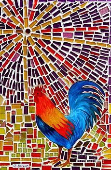 Caroline Street - Rooster Mosaic