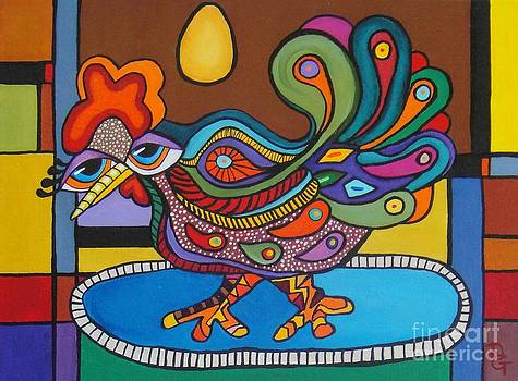 Rooster On A Platter by Deborah Glasgow
