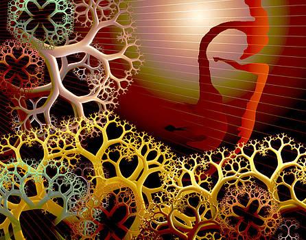 Root Tree Neon Serene by Chris Whitside