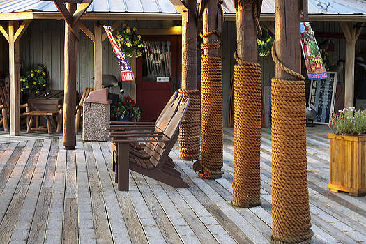 Rope poles and fish chairs by Danielle Allard