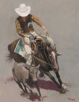 Roper Salinas Rodeo by Terry Guyer