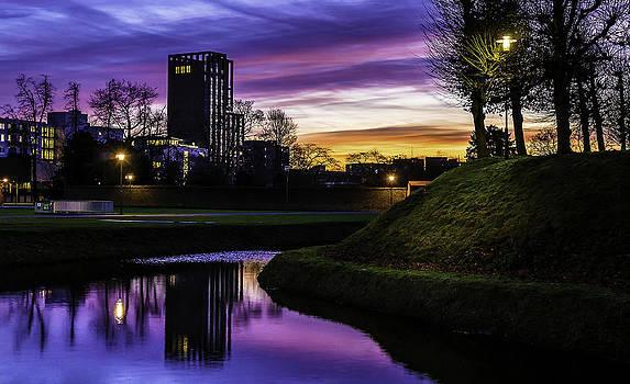 Rosa Toren Sittard At Sunrise by Libor Bednarik
