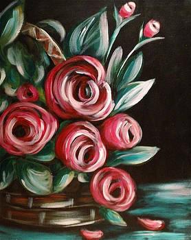 Rose Basket by Dyanne Parker