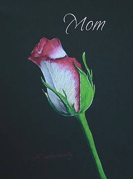 Rose Bud for Mom by Marna Edwards Flavell