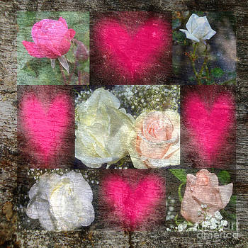 Rose Design Collage by Eva Thomas