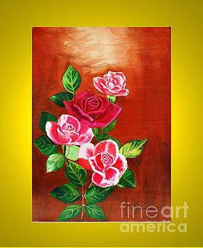 Rose Flower by Purnima Jain