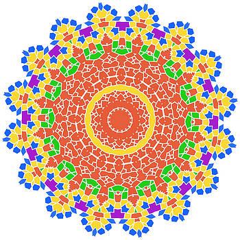 Rose gold sun petal flower shell by Larisa Karpova