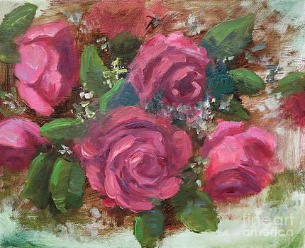 Rose Sketch in oil by Michele Tokach